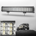 20 Inch Off Road LED Light Bar 189W 30 Degree Spot 60 Degree Flood Combo Beam Car Light For Off Road, Truck, 4WD, BOAT, JEEP
