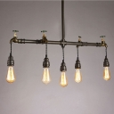 Industrial Tap Chandelier in Black Finish, 36'' Width 5 Lights