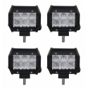 5D 4 Inch Off Road LED Light Bar CREE LED 18W 60 Degree Flood Beam Car Light For Off Road, Truck, 4WD, BOAT, JEEP, Pack of 4