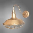 Antique Gold Finished 1 Light Industrial Style LED Walll Sconce Indoor Lighting Fixture