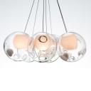 Inner Glass Ball Pendant Multi-light Pendant 7 Light