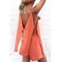 Hot Fashion Summer's Sleeveless Spaghetti Straps Hollow Out Top with Plain Shorts