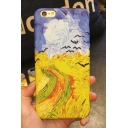 New Stylish Oil Painting Pattern Polish iPhone Case
