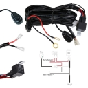 LED Light Bar Wiring Harness Kit 180W 12V 40A Fuse Relay ON/OFF Waterproof Switch 1 Lead 2 Meter Universal for Off Road ATV SUV Jeep Truck
