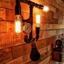 Industrial Steampunk Pressure Gauge Wall Sconce 3 Lights