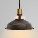 Industrial Single Pendant Light in Black with Barn Shade, Mini Sized