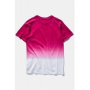 Summer's Basic Simple Tie Dye Round Neck Short Sleeve Cotton Unisex T-Shirt