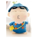 Lovely Cartoon Crayon Shin with School Uniform Woolen Toy