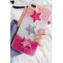 Hot Fashion Glitter Five-Point Stars Print iPhone Case