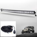 5D 52 Inch Off Road LED Light Bar CREE LED 300W 30 Degree Spot 60 Degree Flood Combo Beam Car Light For Off Road 4WD Jeep Truck ATV SUV with 1 Wire Harness