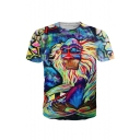 New Stylish 3D Gorilla Egypt Pharaoh Printed Round Neck Short Sleeve T-Shirt