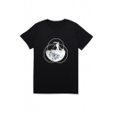 Summer's Hot Fashion Space Astronaut Pattern Round Neck Short Sleeve T-Shirt