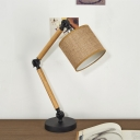 Industrial Table Lamp Adjustable with Cylinder Shade