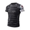 New Stylish Digital Pattern Short Sleeve Round Neck T-Shirt