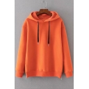 New Fashion Zip Up Side Simple Plain Loose Leisure Long Sleeve Hoodie