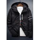 Casual Hooded Long Sleeve Zip Front Sun-Proof Coat