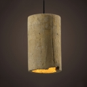 Industrial Pendant Light Concrete with 5