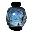 Hot Fashion Digital Galaxy Pattern Long Sleeve Unisex Hoodie