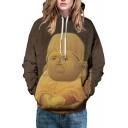 Unisex Buddha Printed Long Sleeve Hoodie Sweatshirt