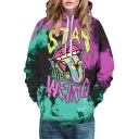 Funny Digital Big Mouth Pattern Long Sleeve Casual Loose Hoodie for Couple