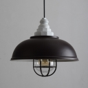 Industrial Cage Pendant Light with 14
