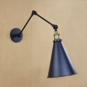 Vintage Adjustable Wall Sconce with 8