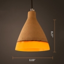 Industrial Cement/Resin Pendant Light with Conical Shade