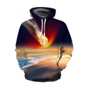 Hot Fashion Digital Galaxy Pattern Unisex Casual Loose Long Sleeve Hoodie