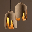 Industrial Mini Pendant Light Cement in Nordic Style, 8