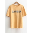 Summer's Loose Leisure Letter Printed Round Neck Short Sleeve Pullover T-Shirt