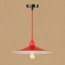 Vintage Retro Pendant Light in Red