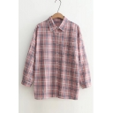 New Arrival Fashion Plaids Pattern Long Sleeve Cotton Buttons Down Shirt