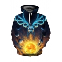 Chic 3D Galaxy Deer Pattern Casual Leisure Unisex Long Sleeve Hoodie