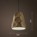 Industrial Pendant Light Cement with Coolie Shade