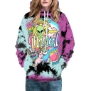 Fashion 3D Cartoon Alien Pattern Long Sleeve Casual Leisure Hoodie with Pockets