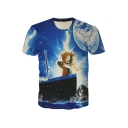 Summer's Hot Fashion 3D Cartoon Couple Cat Pattern Short Sleeve T-Shirt
