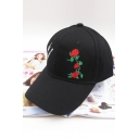 Fashion Embroidery Floral Letter Pattern Adjustable Baseball Cap