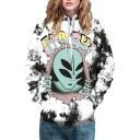New Arrival Fashion Digital Alien Pattern Casual Unisex Hoodie