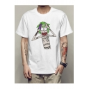 Casual Leisure Cartoon Pattern Round Neck Short Sleeve Unisex T-Shirt