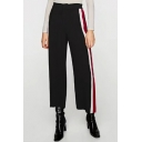 Fashion Striped Printed Side Loose Leisure Wide Legs Sports Pants