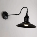 Industrial Vintage Wall Sconce in Satin Black