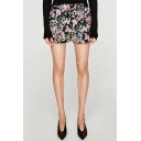 Summer's Fashion Floral Pattern High Waist Holiday Casual Shorts