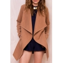 New Collection Basic Simple Plain Long Sleeve Fashion Trench Coat