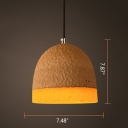 Industrial Cement/Resin Pendant Light