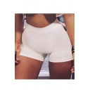 Summer's Hot Fashion Elastic Waist Plain Skinny Yoga Hot Pants Shorts