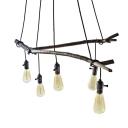 Industrial Multi Light Pendant in Bulb Style , 5 Lights