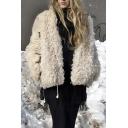 Winter's Hot Fashion Warm Wool Open Front Long Sleeve Coat