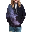 Beautiful Galaxy Cloud 3D Printed Long Sleeve Hoodie