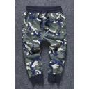 New Arrival Chic Camouflage Pattern Drawstring Waist Sports Oversize Pants