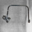 Industrial Indoor Wall Lamp with Bent Arm, Black